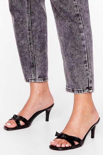 Black The Crocy Horror Show Kitten Heel Mules