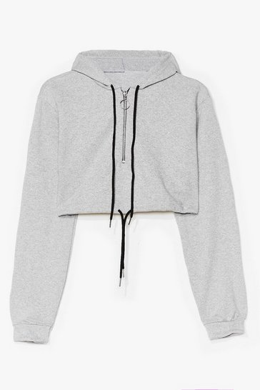 Grey Cropped Hoody