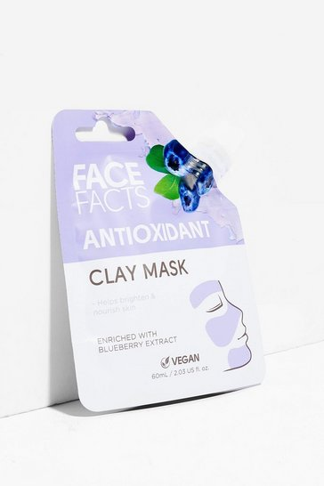 Masque antioxydant à l'argile Face Facts - Myrtille, Purple