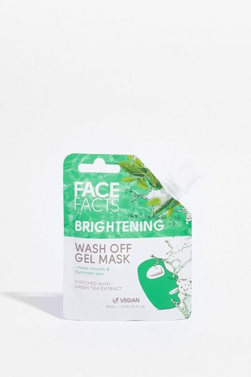 Green Face Facts Brightening Wash Off Gel Face Mask