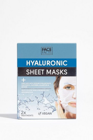 Masques tissu à l'acide hyaluronique x2 Skin Facts, White