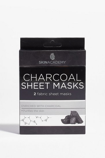 Black Skin Academy Charcoa 2-Pc Sheet Mask Set