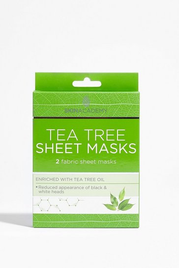 Green Skin Academy 2-Pc Tea Tree Sheet Mask Set