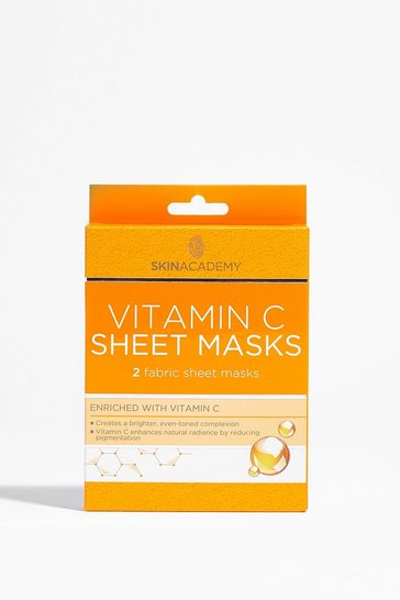 Orange You're Glowing 2-Pc Vitamin C Sheet Mask Set