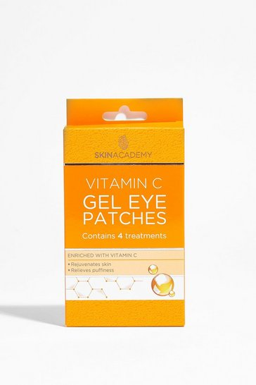 Orange SKIN ACADEMY VITAMIN C GEL EYE PATCHES 4PK