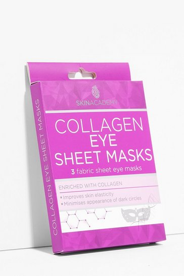 Burgundy Skin Academy 3-Pc Collagen Eye Sheet Masks