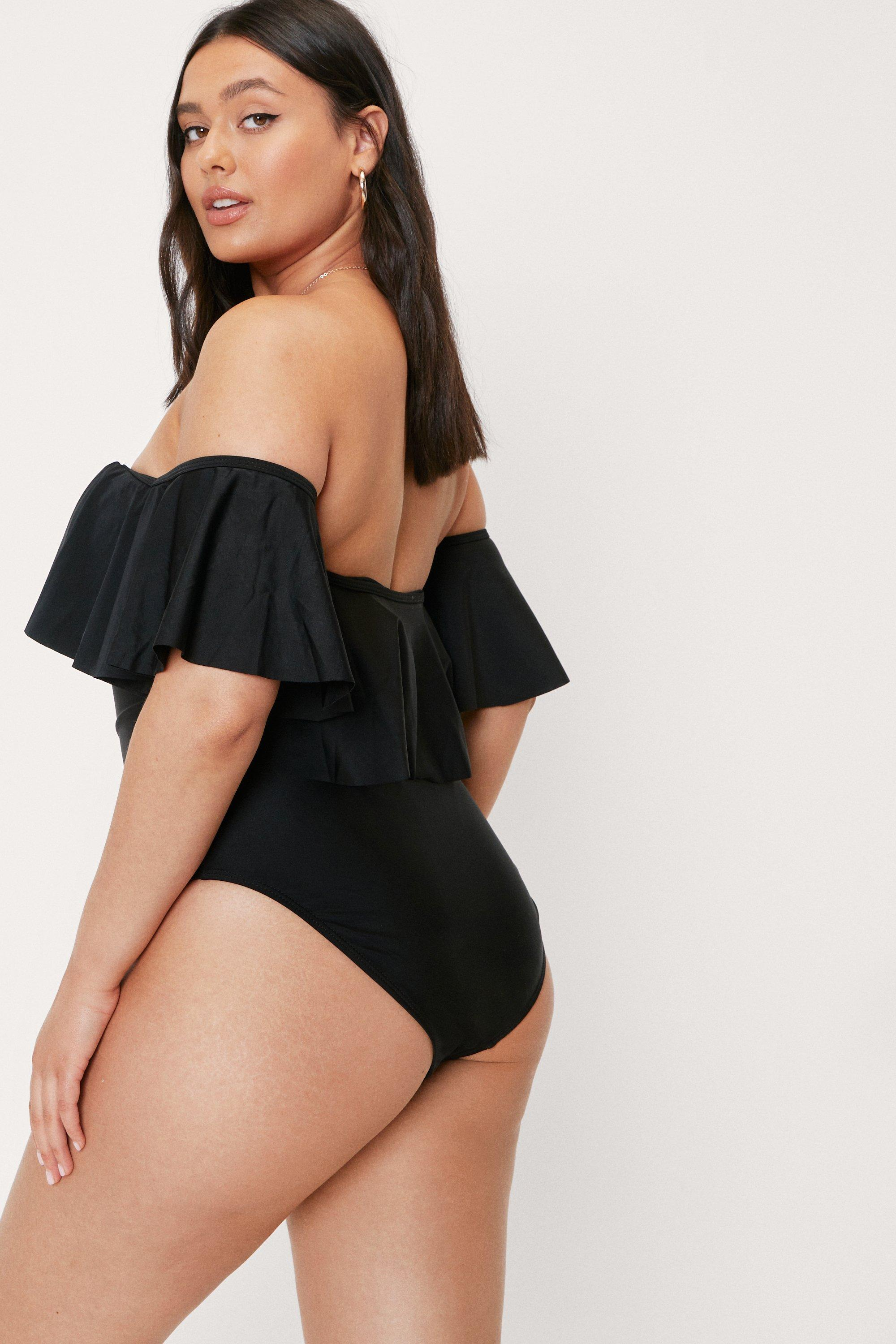 Hot in Here Off-the-Shoulder Plus Swimsuit 6