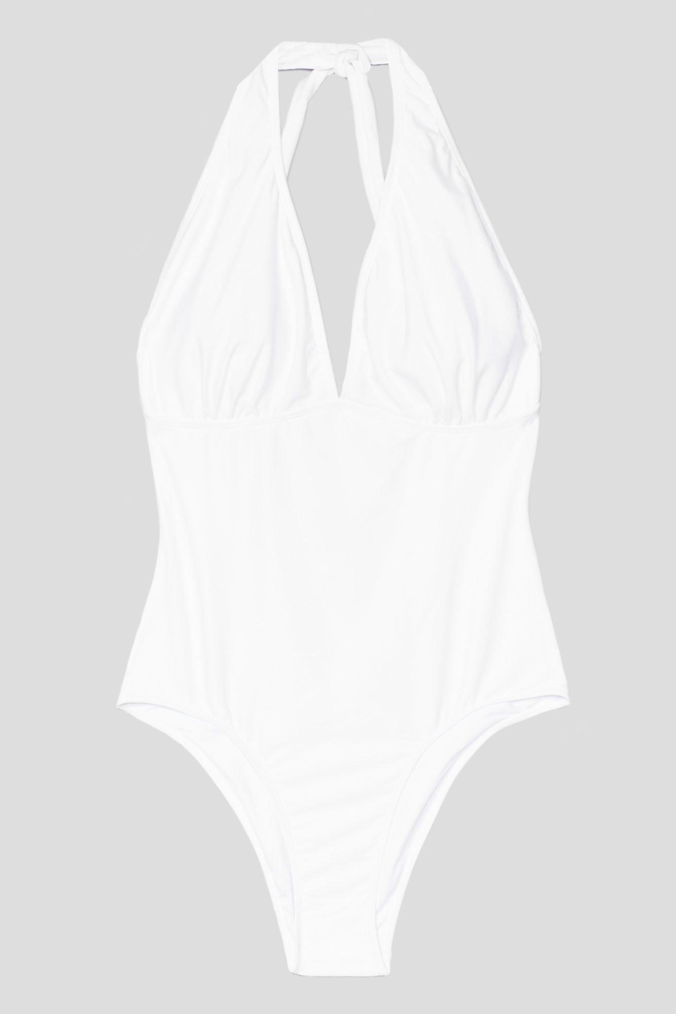 Plus Size Halter Plunge Swimsuit 6