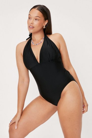Black Hey Hey Vacay Plus Plunge Swimsuit
