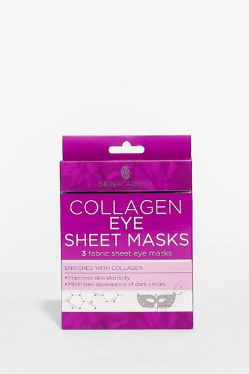 Green Skin Academy 3-Pc Collagen Eye Sheet Masks