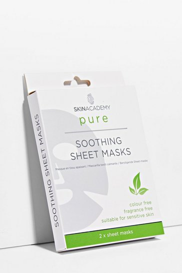 Clear Keep Calm 2-Pc Soothing Sheet Masks Set