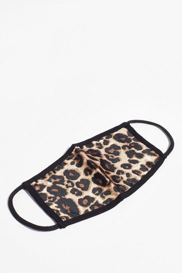 Black Cheetahs Never Prosper Fashion Face Mask