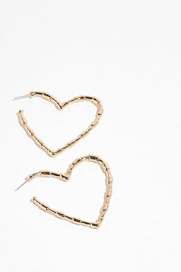 Gold Heart of Something New Hoop Earrings