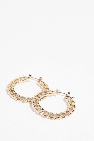 Gold Don't Chain on Our Parade Hoop Earrings