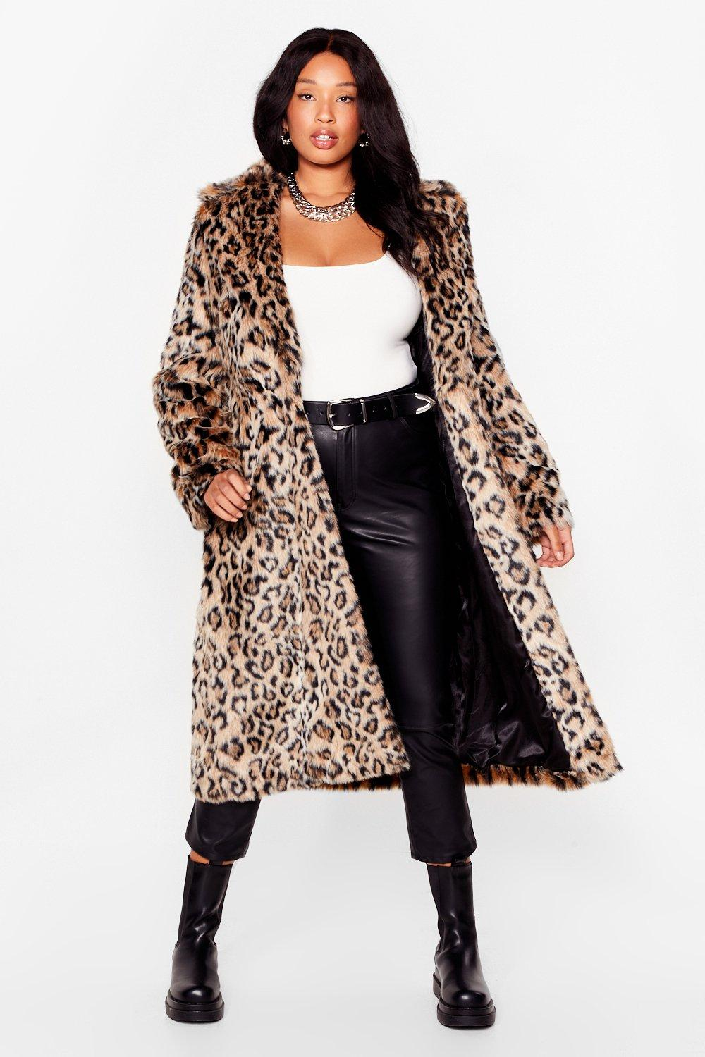 Grrrl Power Plus Leopard Faux Fur Coat 13