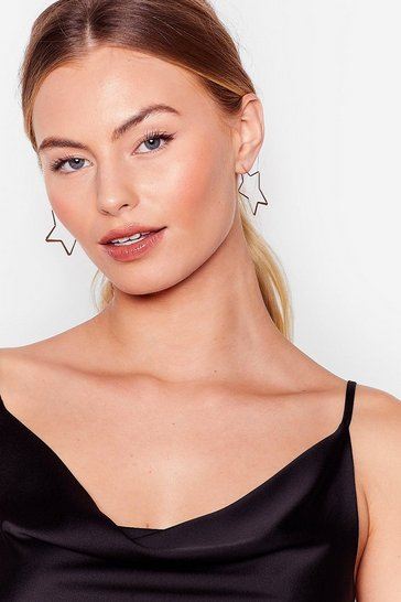 Gold Ear Goes Nothing 3-Pc Star Hoop Earring Set