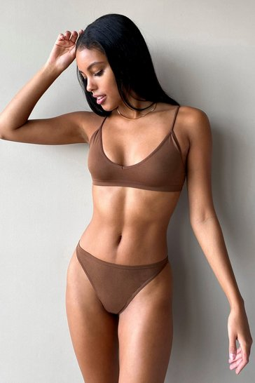 Chestnut Seamless Nights V-Neck Bralette