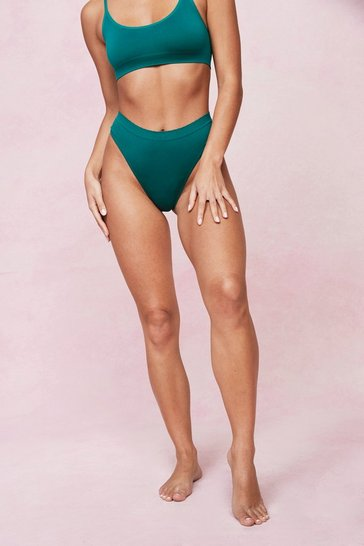 Emerald Seamless High Waisted High Leg Thong