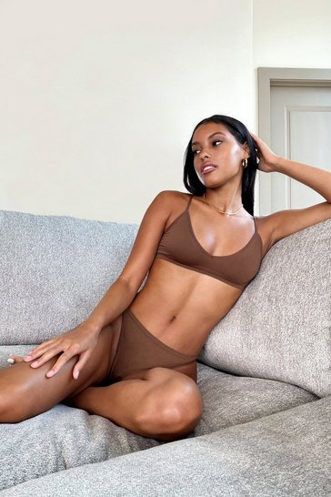 Chestnut Seamless Nights High-Leg Thong