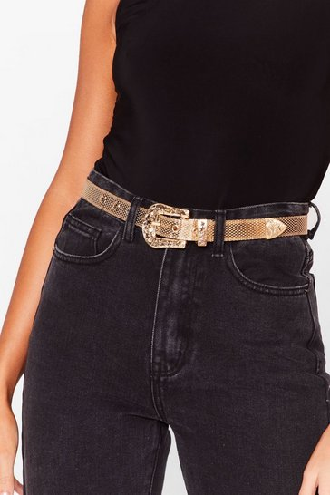 Gold Simply the West Metallic Belt