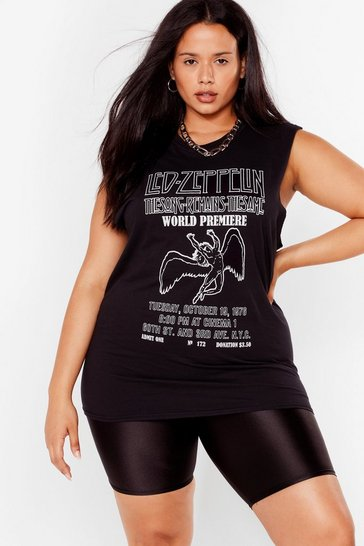 Black Plus Led Zeppelin Sleeveless Tee