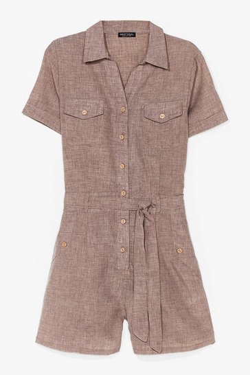 Stone Work From Home Belted Playsuit