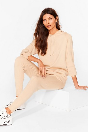 Stone Knit Hoodie And Leggings Loungewear Set