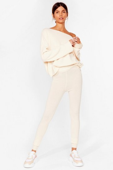 Ivory Ready Set Go Knitted Sweater and Legging Set