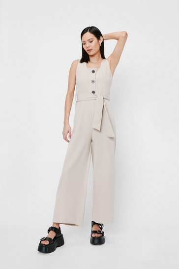 Stone Jump to It Belted Wide-Leg Jumpsuit