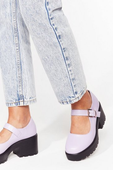 Lilac Mary Jane on My Parade Heeled Shoes