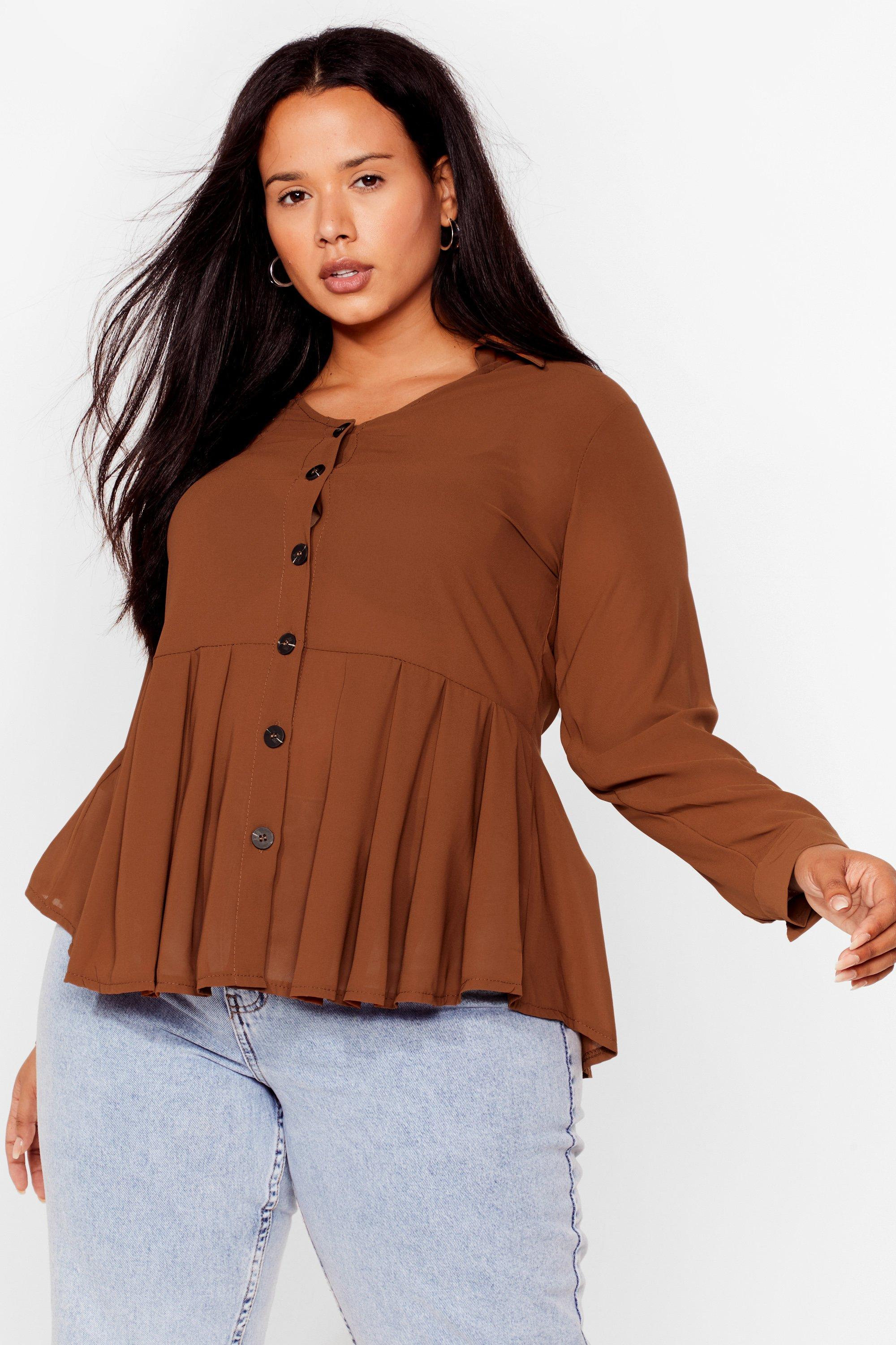 Button the Ball Plus Relaxed Top 6