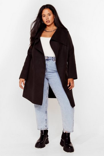 Black Tailored to You Plus Longline Jacket
