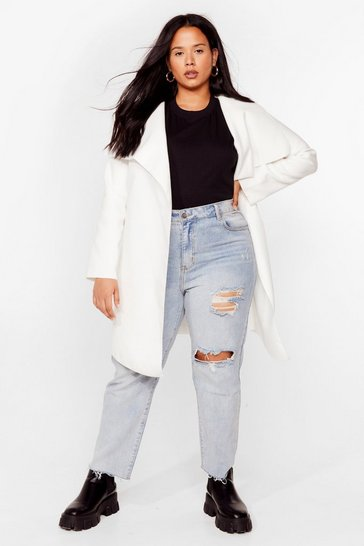 White Tailored to You Plus Longline Jacket