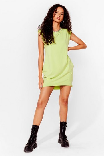 Mint Shoulder Pad Case of Lovin' You Jersey Mini Dress