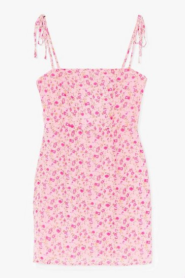 Pink If You Seed Us Floral Mini Dress