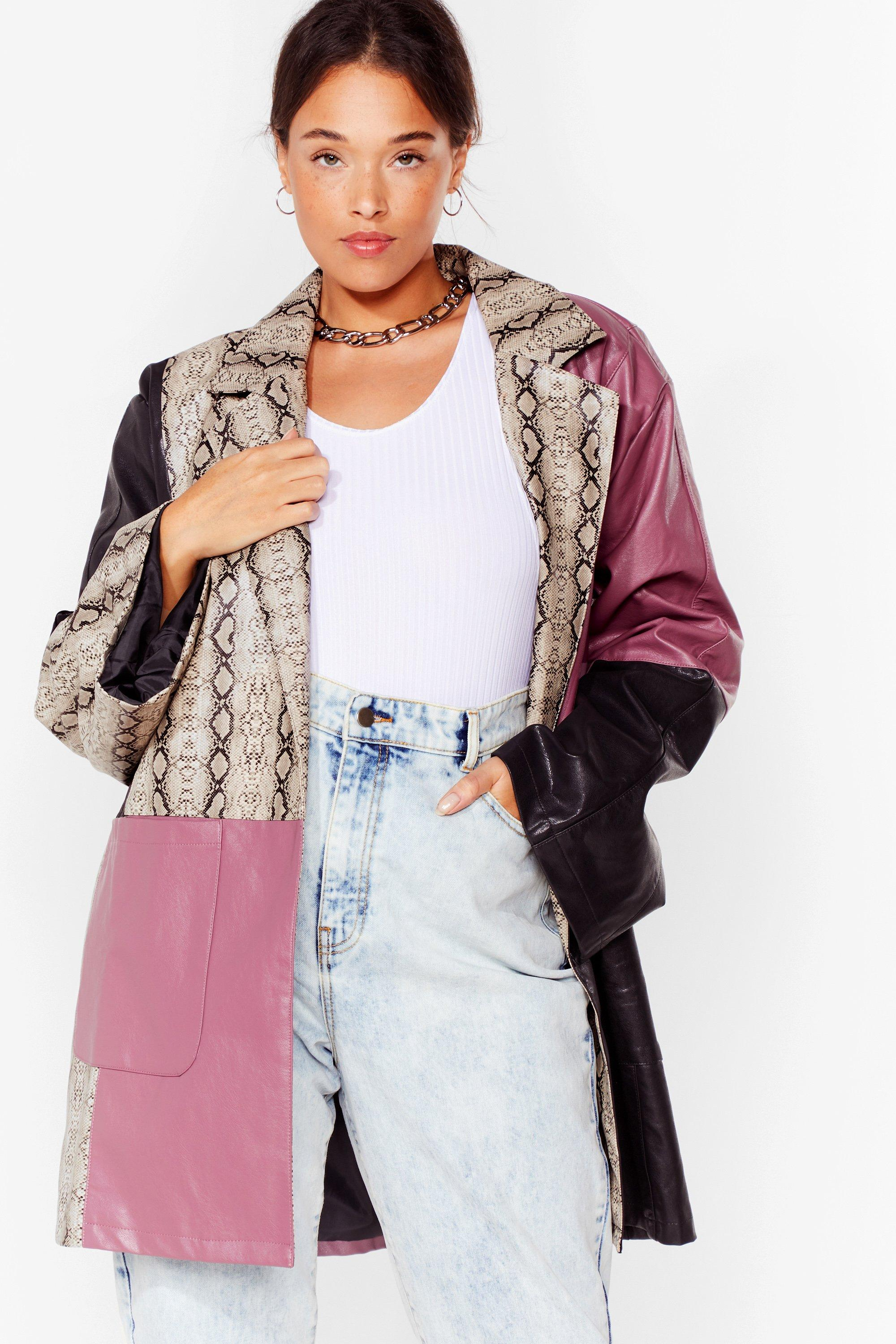 Met Your Patch Plus Snake Faux Leather Jacket 6