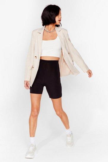 Black We Should Be Dancin' Slinky Biker Shorts