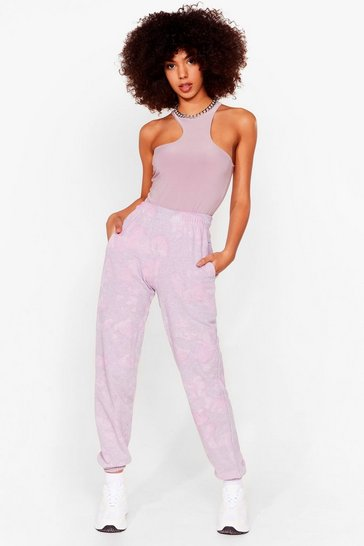 Pink Head in the Clouds High-Waisted Tie Dye Joggers