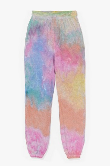 Pink Show Your True Colors Relaxed Tie Dye Joggers