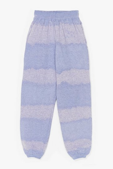 Purple Hippy Camper High-Waisted Tie Dye Joggers
