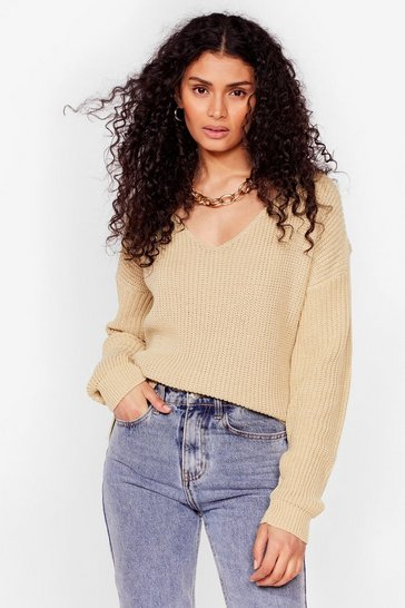 Stone 'Til V Work It Out Knitted Sweater