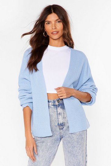 Pastel blue What's Love Got to do With Knit Cardigan