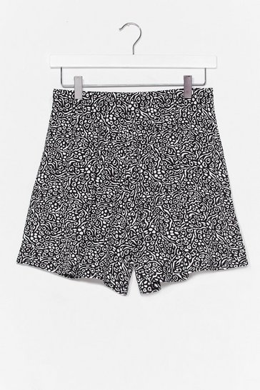 Black Wildest Dreams High-Waisted Animal Shorts