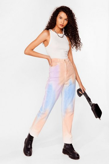 Blue Straight to the Point Tie Dye Jeans
