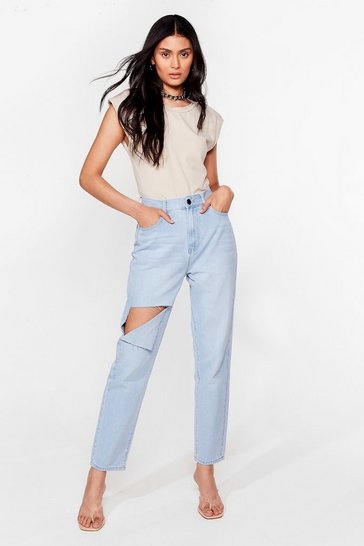 Light blue Get in Their Shreds Distressed Jeans