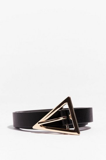 Black PU Triangle Belt