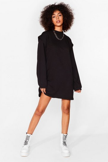 Black Get Bold Sweater Mini Dress
