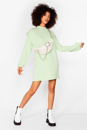 Sage Get Bold Sweater Mini Dress