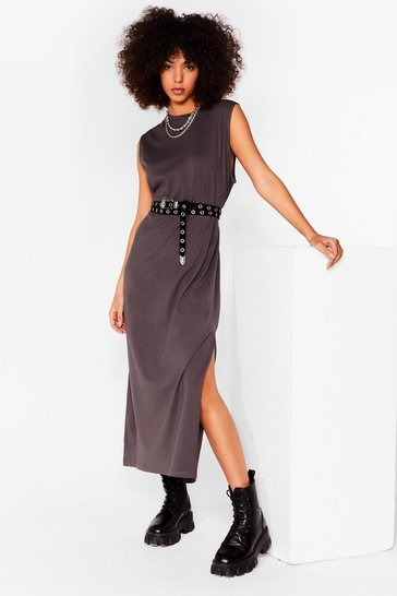 Charcoal Jersey of Love Tank Midi Dress