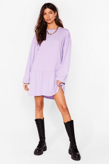 Lavender Drop What You're Doing Relaxed Mini Dress